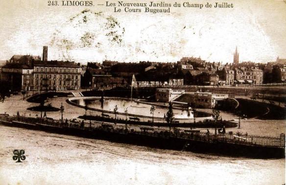 Champ de Juillet Limoges autrefois 1
