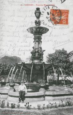 Fontaine hotel de ville Limoges autrefois