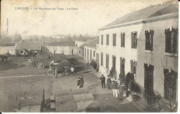 Limoges autrefois 12eme escadron du train